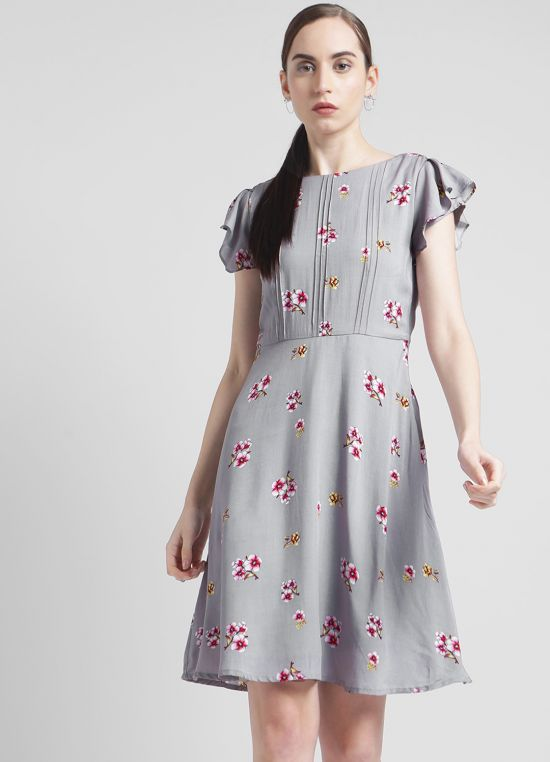Printed Fit & Flare Dresses for Women