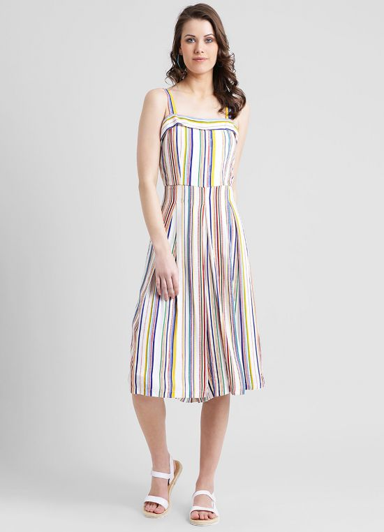 Women's Multi-Colored Striped Jumpsuit