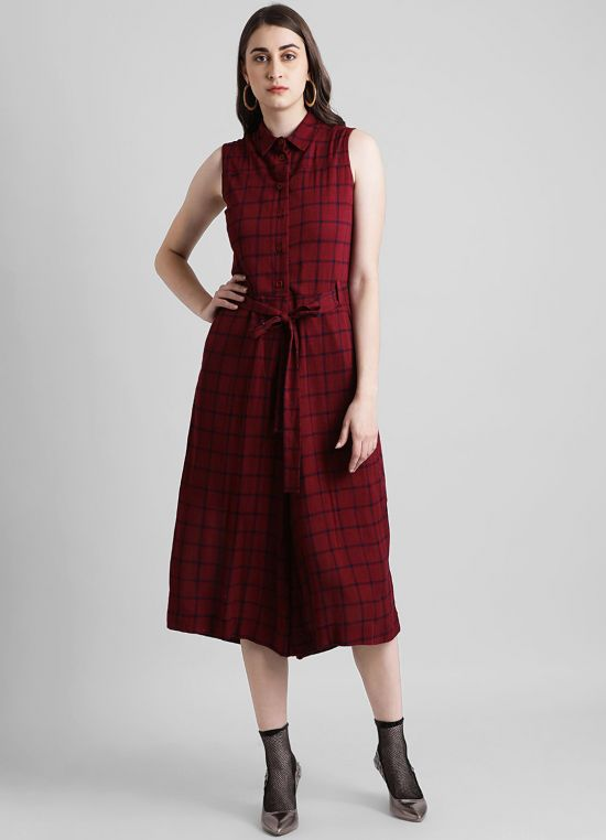 Women's Checked Jumpsuit