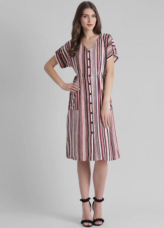 Women's Striped Fit and Flare