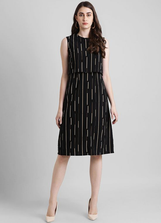 Women's Printed Fit and Flare Dress