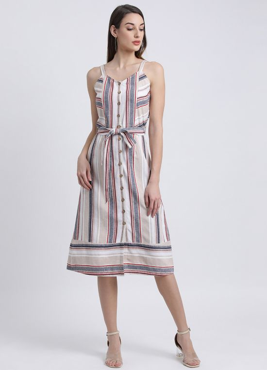 Colour Me Stripe Midi Dress for Women