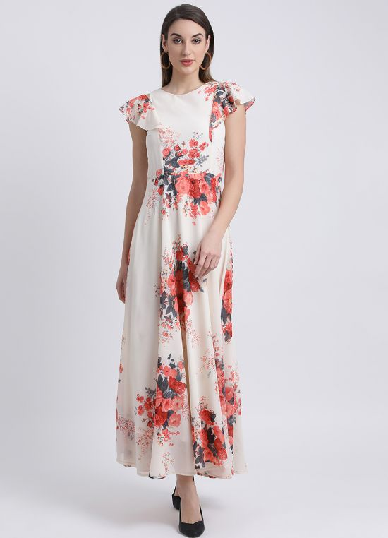 Date With Flowers Maxi Dress for Women
