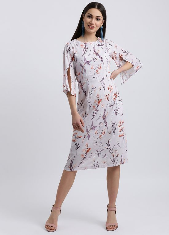 Royal Flowers Midi Dress for Women