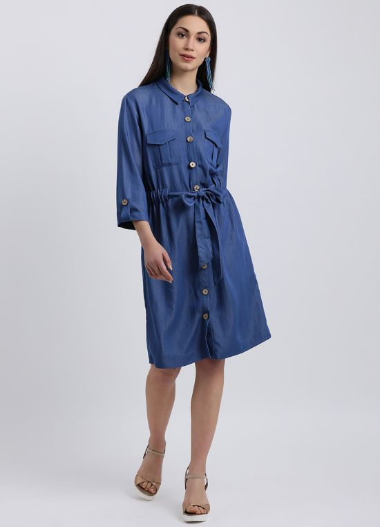 Colour Me Denim Dress for Women