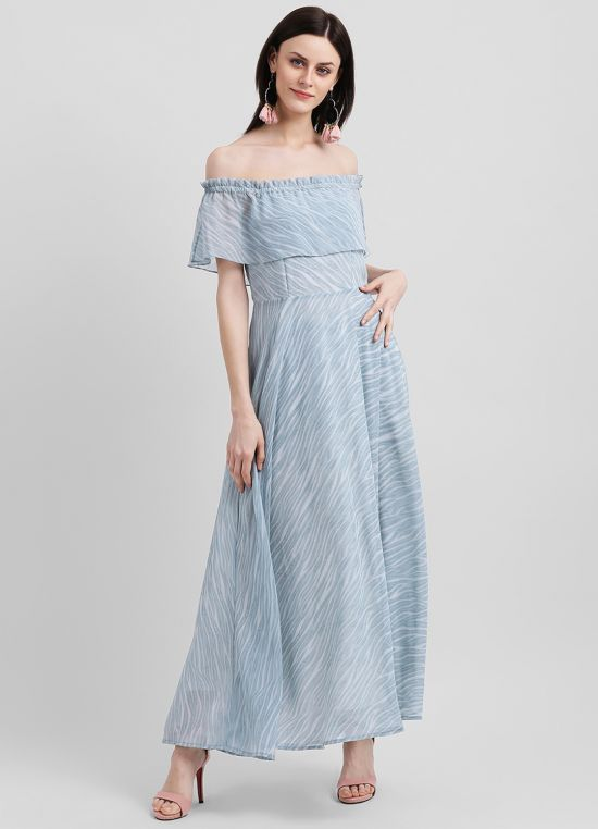 Marble Delight Maxi Dress for Women
