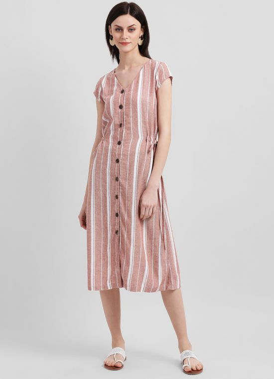 French Countryside Midi Dress for Women