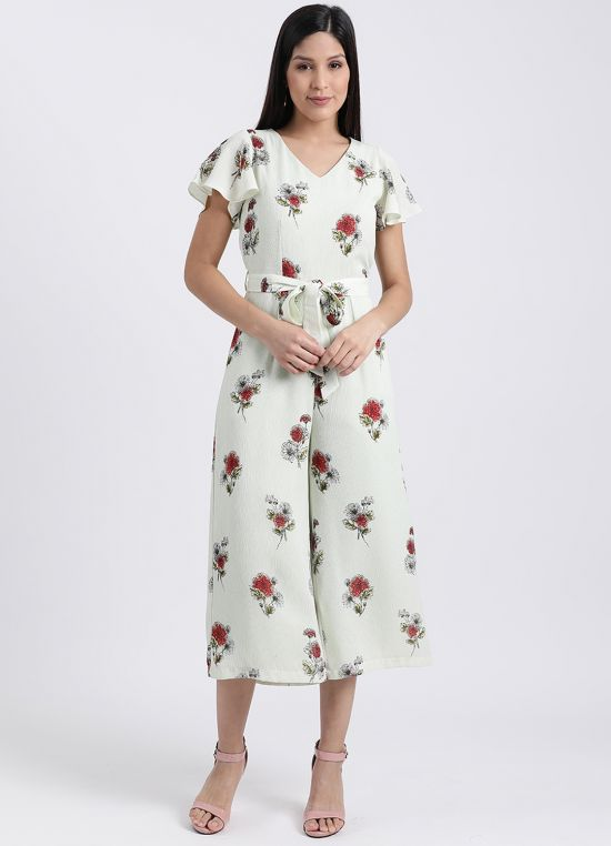 Floral Flared Sleeve Jumpsuit