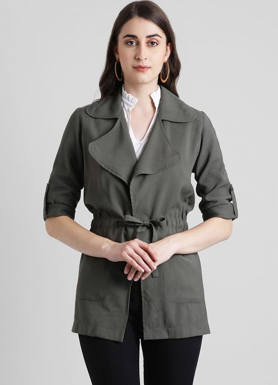 Women's Solid Tailored Jacket