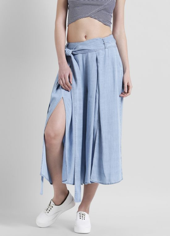 Solid Flared Trouser for Women