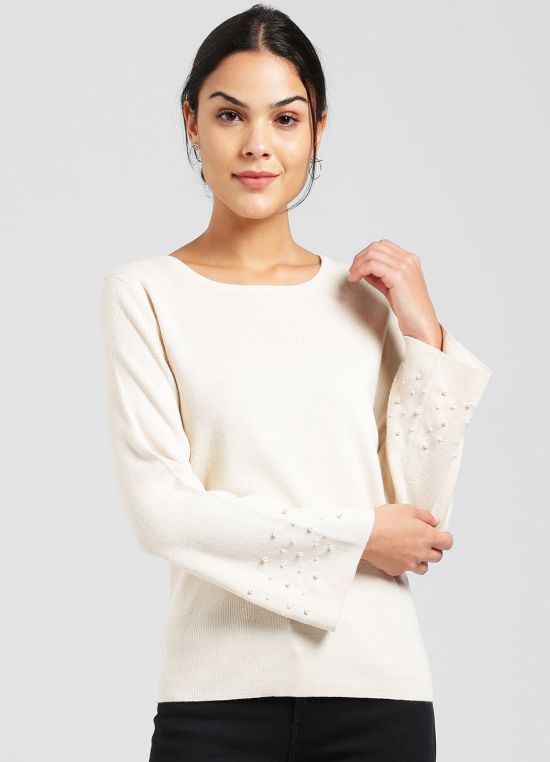 Off White Pullover for Women