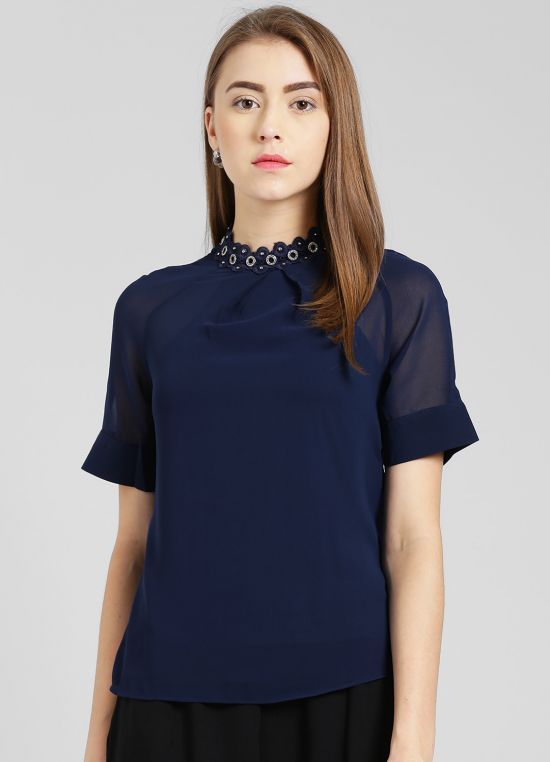 Navy Blue Top for Women
