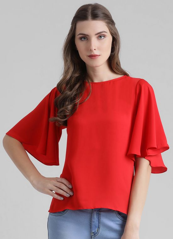 Women's Solid Styled Back Top