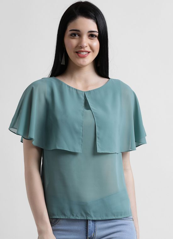 Cape Style Georgette Top