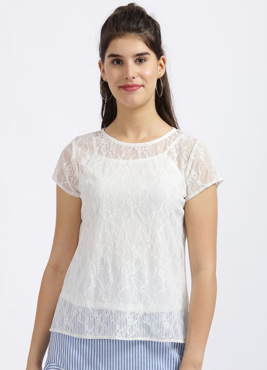 White Lace Top For Women