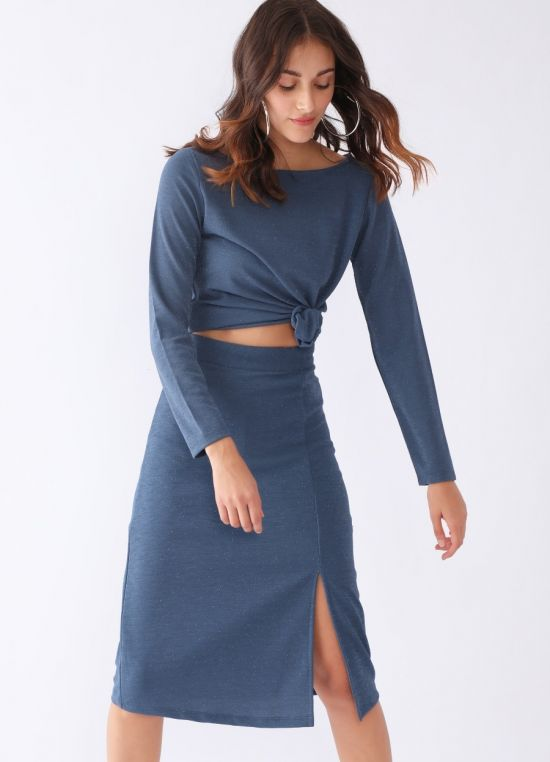 Zink London Blue Solid Co-ords