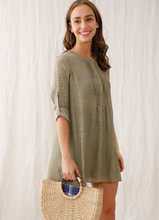 Zink London Green Solid Tunic