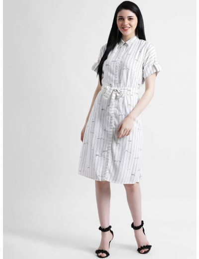 Stripes Shirt Style Dress