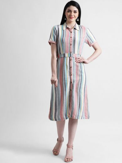 Sorbet Mischief Midi Dress