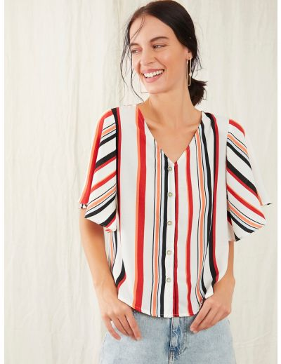 Multi Colour Stripe Top for Women